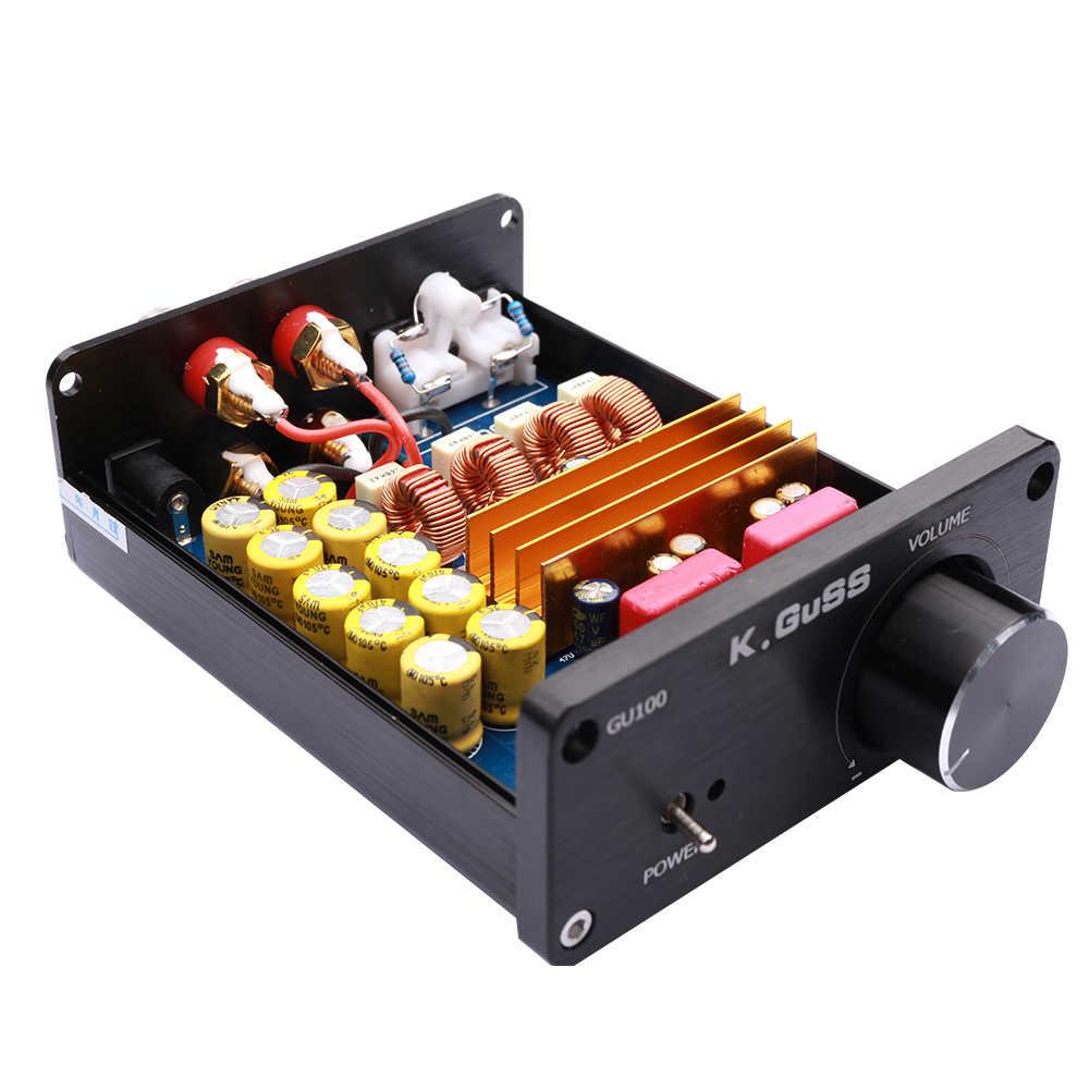 KGUSS GU100 мини Hi-Fi Класс D Цифровой аудио Мощность усилитель tpa3116d2 TPA3116 расширенный 2*100 W мини домашнего Алюминий корпус amp