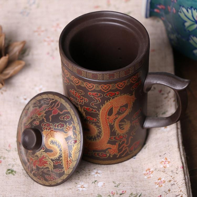 Juego de té 300IX Yixing chino, taza de té de arcilla púrpura, - Cocina, comedor y bar - foto 1