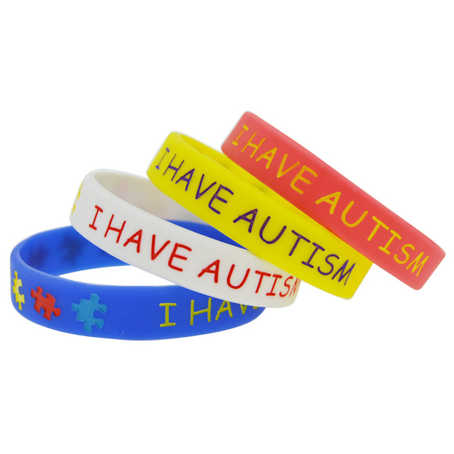 50pcs Lot Multicolors Puzzle Silicone Wristband In Kids I Have Autism Bracelet Bangles From Jewelry Accessories On Aliexpress Alibaba Group