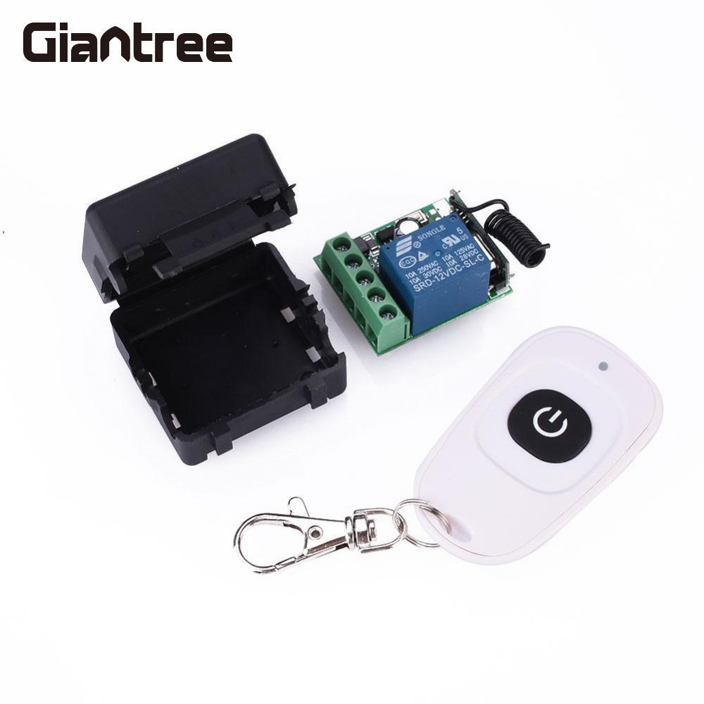 Giantree 10A 315MHz Relay Wireless RF Remote Control Switch Transmitter + Receiver Set Kit Access Control SystemGiantree 10A 315MHz Relay Wireless RF Remote Control Switch Transmitter + Receiver Set Kit Access Control System