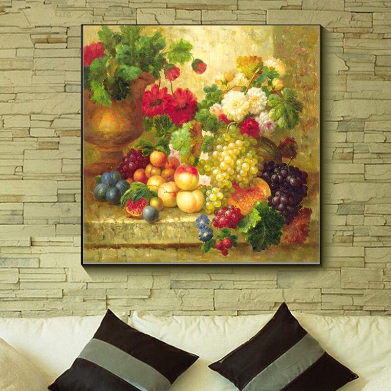 Zátiší Bohaté ovoce Wall Art Picture HD Print Unframed Canvas Printings olejomalba Moderní domácí dekor jídelna