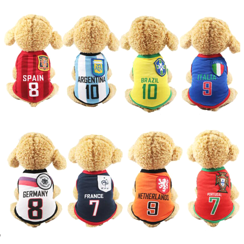 PET Cheap Dog Clothes World Cup Dog Vest 6 Country Soccer Dog Shirt 4 NBA Jersey Basketball Uniforms Y129