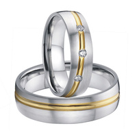 Handmade Custom Unique Design Titanium His And Hers Wedding Rings Sets For Men And Women 2015