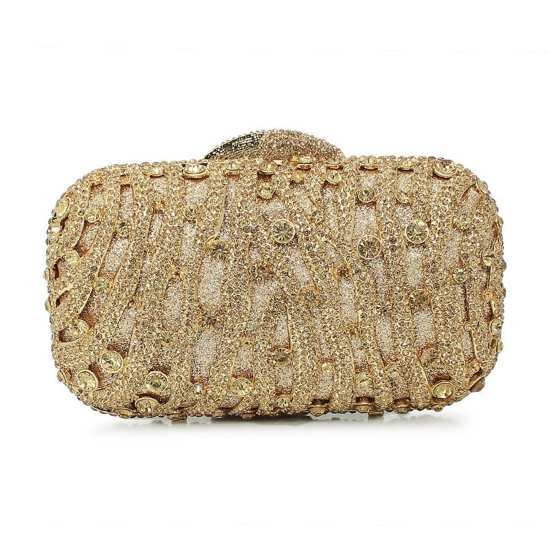 golden diamond crystal clutch evening bag ladiespurse (8226A-G) g sellars an evening idyl