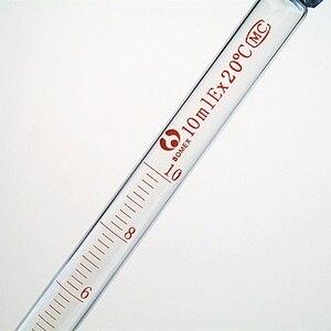 Image 3 - 5 יח\חבילה זכוכית בוגר פיפטה עם גומי הנורה מעבדה כימיה טפטפת מחלק 1 ml 2 ml 3 ml 5 ml 10 ml ניסיוני טפטפת