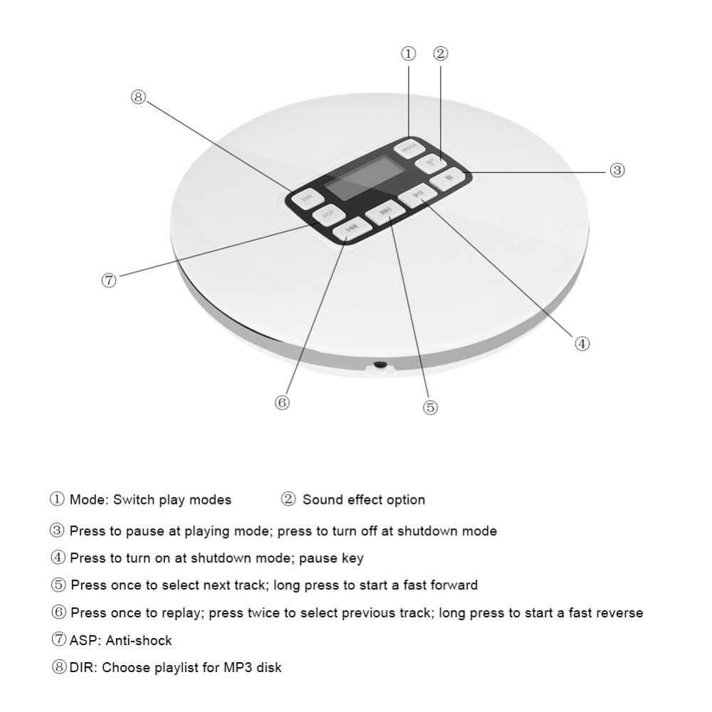 small resolution of  lcd portable aux cd player headphone for mp3 cd cd r