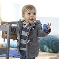 2016 nuevos bebés chaqueta de invierno ropa 2 colores ropa de abrigo gruesa de algodón niños traje para la nieve niños clothing con capucha