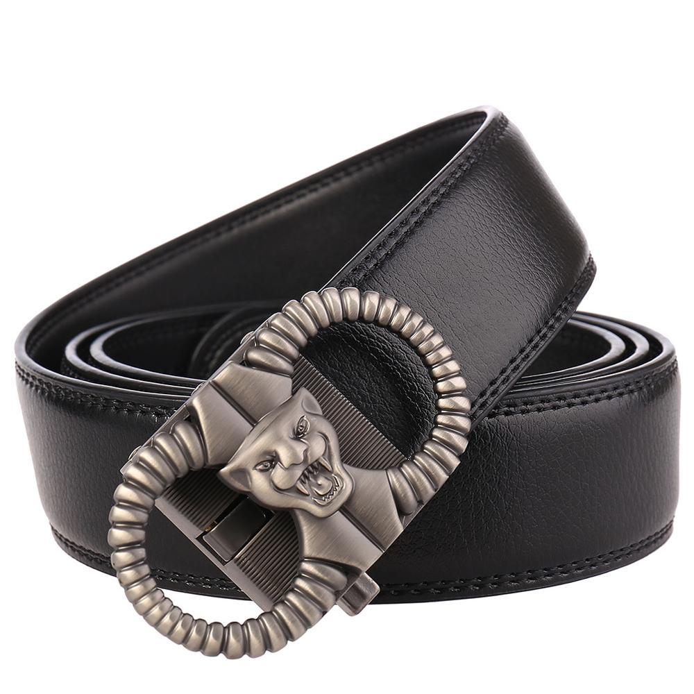 Genuine Leather Male Strap Cowhide Automatic Buckle Designer Belt Men 39 s Quality Men Belt Luxury Designer Belt Birthday Present in Men 39 s Belts from Apparel Accessories