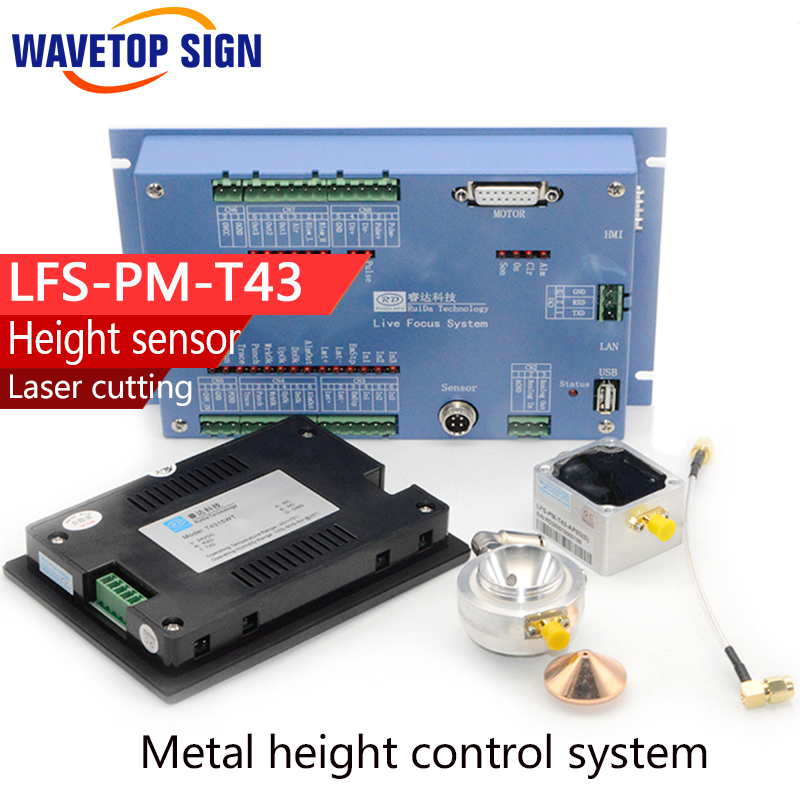 Metal height control system LFS-PM-T43 with Operation panel match with RD6332M mixed laser control system lfs am analog metal height controller sensor 1pcs head 1pcs amplifiers 1pcs cable 10meter