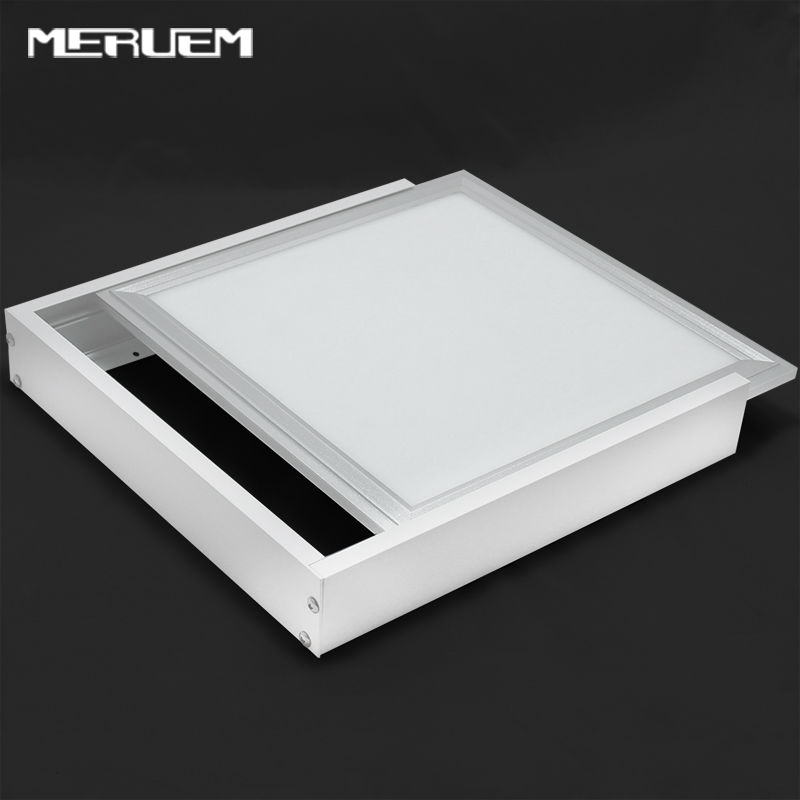 No Cut Ceiling 2pcs Aluminum Surface Mounted Metal Structure Frame FOR led Panel 300 600 600