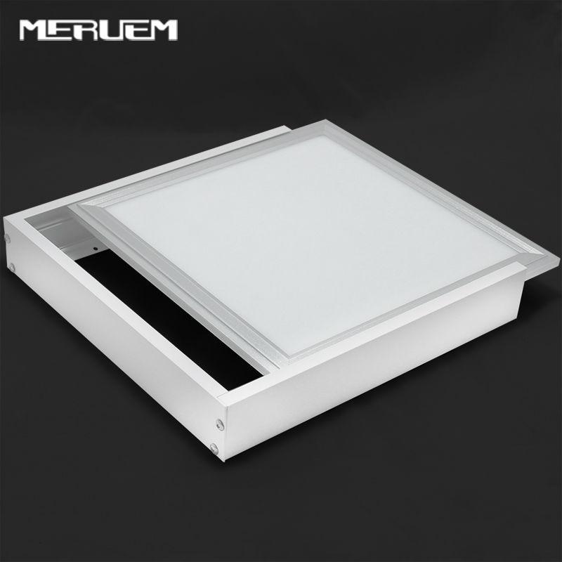 Žádný strop! 2ks Hliníková povrchová montáž Kovová konstrukce Rám K LED panelu 300 * 600 600 * 600 300 * 1200mm NEVložené lampy