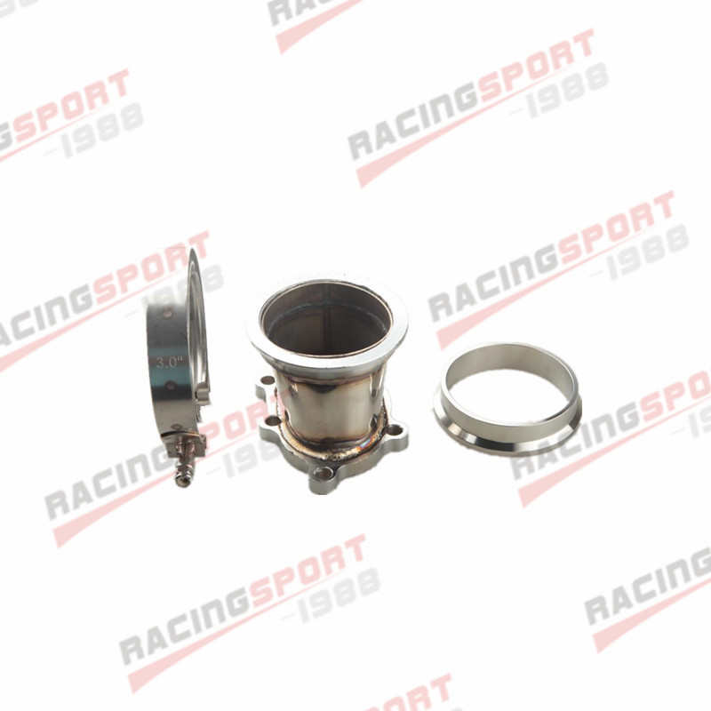 GT25R GT28R 5 BOLT TO 3 INCH V-BAND VBAND CLAMP FLANGE DOWNPIPE ADAPTER KITGT25R GT28R 5 BOLT TO 3 INCH V-BAND VBAND CLAMP FLANGE DOWNPIPE ADAPTER KIT