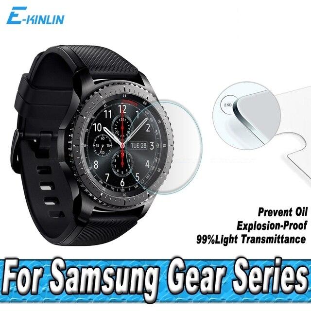 Protetor de Tela De Vidro temperado Para Samsung Galaxy Relógio 46mm 42 Engrenagem dois milímetros S2 S3 Fronteira LTE Clássico 1.3 1.2 polegada Película Protetora