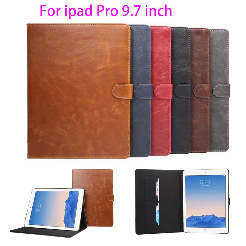 Luxury PU Leather case for Apple iPad Pro 9.7 inch Smart Cover Tablet Smartcover Crazy Horse pattern Stand shell skin Funda Capa 100% original laptop motherboard f81se for asus fully tested and working well