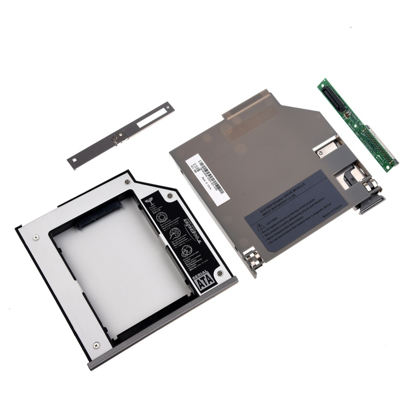 SATA 2nd Hard Disk Drive HDD Bay Caddy Adapter For Dell Latitude D800 D810 D820 D830 Silver