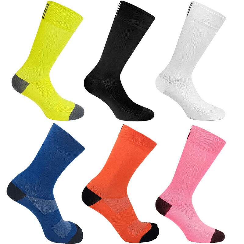 Cycling Socks Women Men Sports Outdoor Gradient Color Breathable Road Bikes Sock