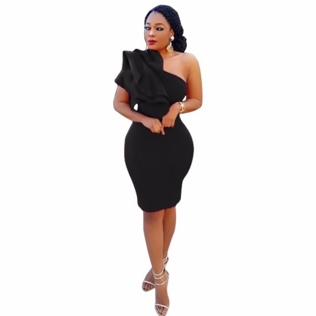 Stylish One Shoulder Dress