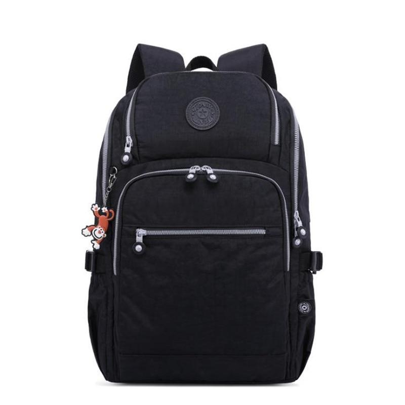 2019 Весна Новый USB Повседневный простой нейтральный нейлон водостойкий большой емкости рюкзак сплошной цвет износостойкий рюкзак для путеш...