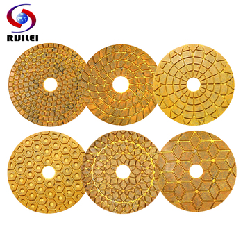 6PCS/Set 4 Inch Super Diamond Polishing Pads 100mm Copper Metal  Bond Wet Pad For Marble Granite Stone Fast Grinding - discount item  32% OFF Power Tools