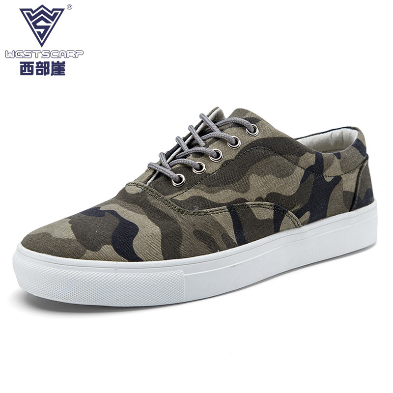 ФОТО New Arrival Unisex Canvas Shoes Men Casual Canvas Shoes Breathable Brand Camouflage Shoes for Mens Zapatos Shoes EU 36-45