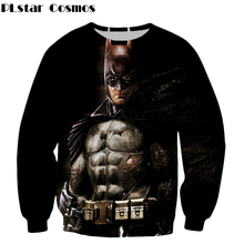 PLstar Cosmos 2017 Fashion Sweatshirts Latest design Batman 3d Print Mens Brand-Clothing Long Sleeve Outerwear size S-5XL