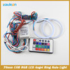 LED Angel Eyes 70MM RGB Multi-colors COB Halo Ring With Remote Control car styling car-covers headlight angel eye light