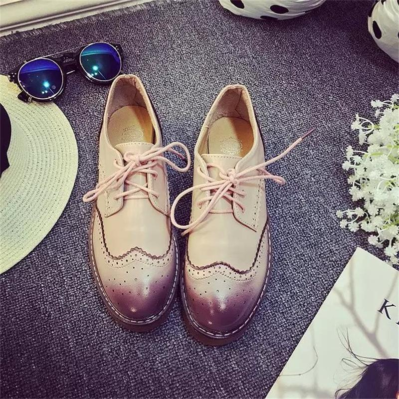 Zapatos casuales de Las Mujeres Oxford Walking Transpirable Moda Cómoda Plana Mu
