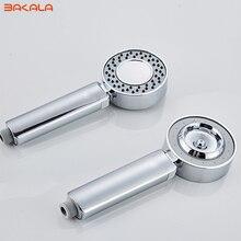 Двухсторонняя двойная функция душевая головка водосберегающая круглая ABS хром усилитель для ванны душ высокого давления ручной душ