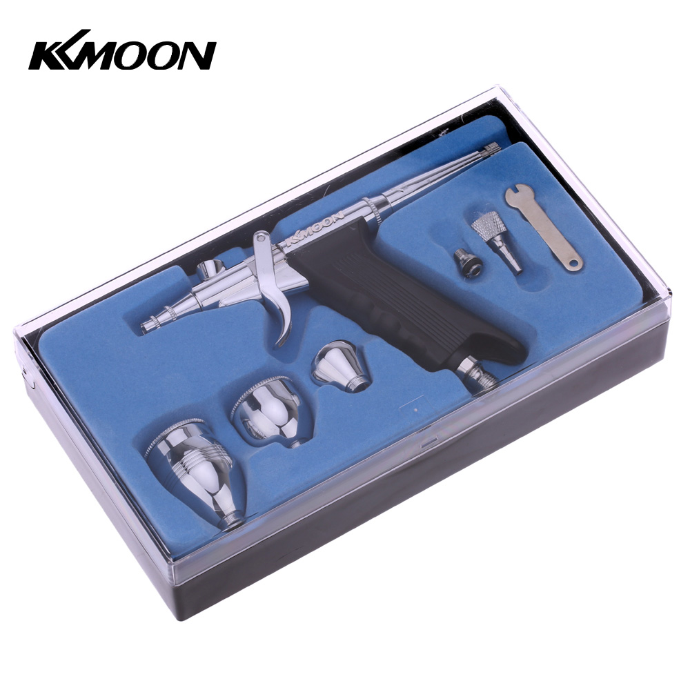 KKmoon Airbrush Spray Gun Double Action Pistol Trigger aerografo Set for Art Painting Tattoo Manicure Spray Model Air Brush Tool-in Spray Guns from Tools on AliExpress - 11.11_Double 11_Singles' Day 1