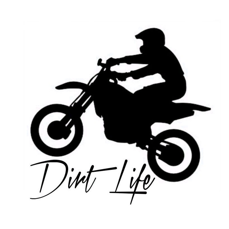 12.7CM*12.5CM Car Window Sticker Outdoor Decal Dirt Bike Dirt Life Car Stickers Car Styling Car Accessories Black Sliver C8-1168