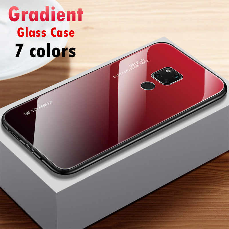 Gradient Tempered Glass Phone Case For Huawei Mate 20 Pro Mate 10 lite honor 9 lite 10 8X Y9 2019 for honor 10 Cover Housing
