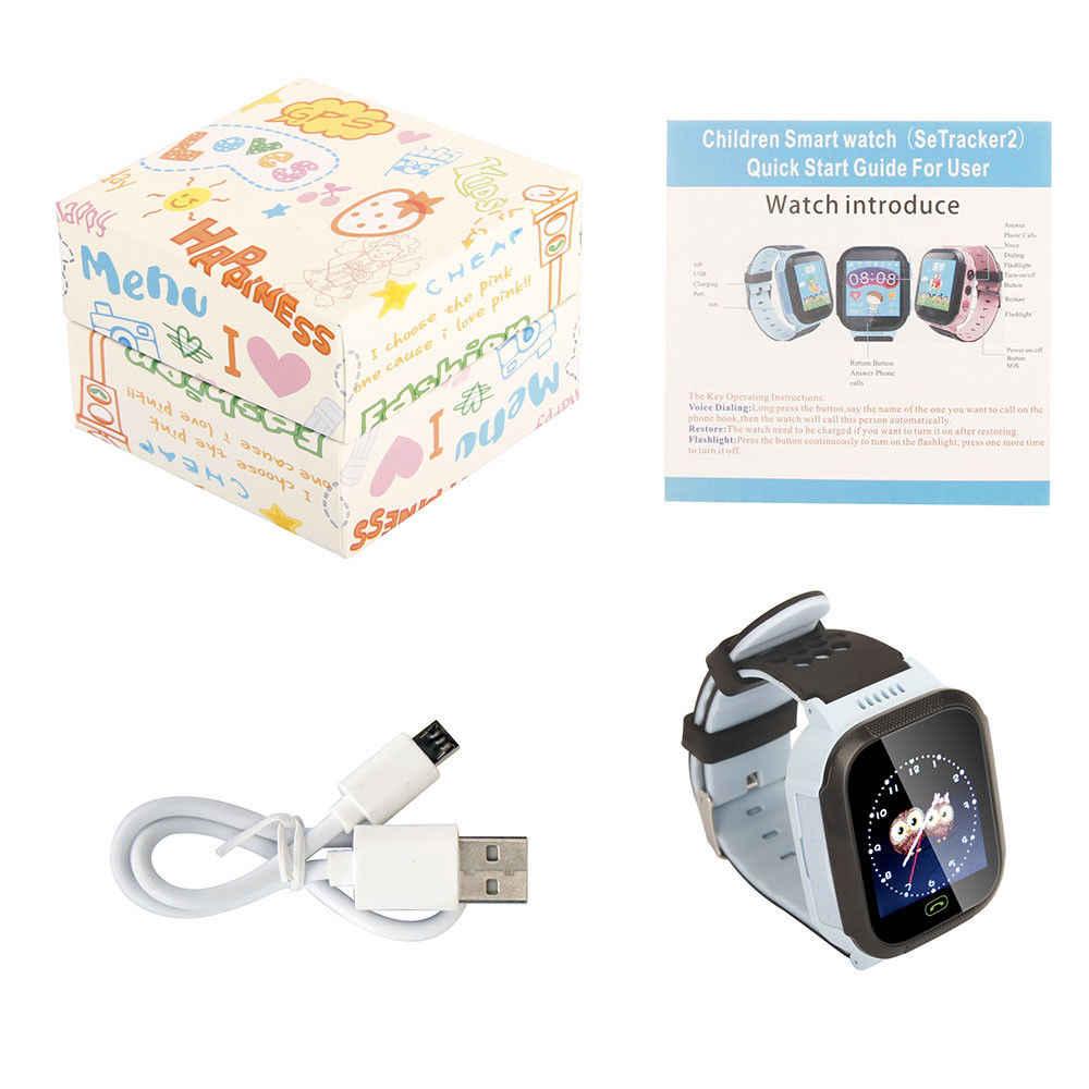Timethinker dla dzieci smart watch kamera na kartę SIM latarka LBS lokalizacji, prezent dla dzieci Smartwatch SOS otrzymać telefon zwrotny od PK Q60 Q50