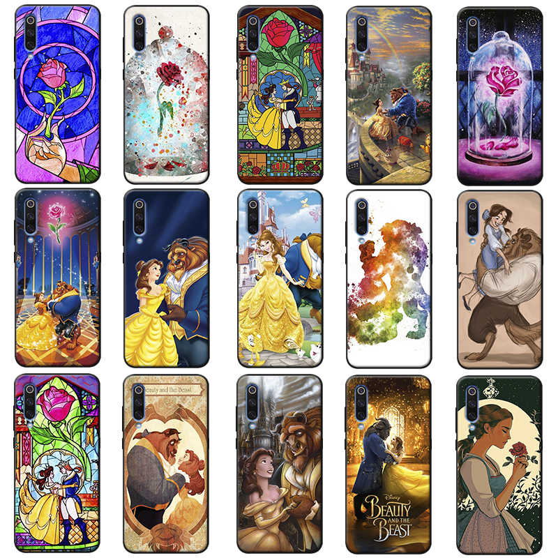 Beauty Beast Rose Princess Art cute hard  Soft Silicone Phone Case for samsung galaxy a50  a70 a30 a40 a20 s8  s9 s10 plus