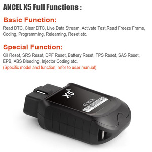 Image 5 - Ancel X5 OBD2 Automotive Scanner Full System WIFI Easydiag ABS SRS EPB DPF Oil Reset Tools ECU Coding Obd 2 Car Diagnostic Tool