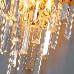 Image 4 - 高速無料現代の壁の燭台ランプ高級黄金の結晶壁照明器具を経由してledウォールランプの寝室のベッドサイド、リビングルームdhl