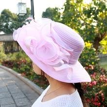 Women's Mesh Kentucky Derby Wide Brim Hat