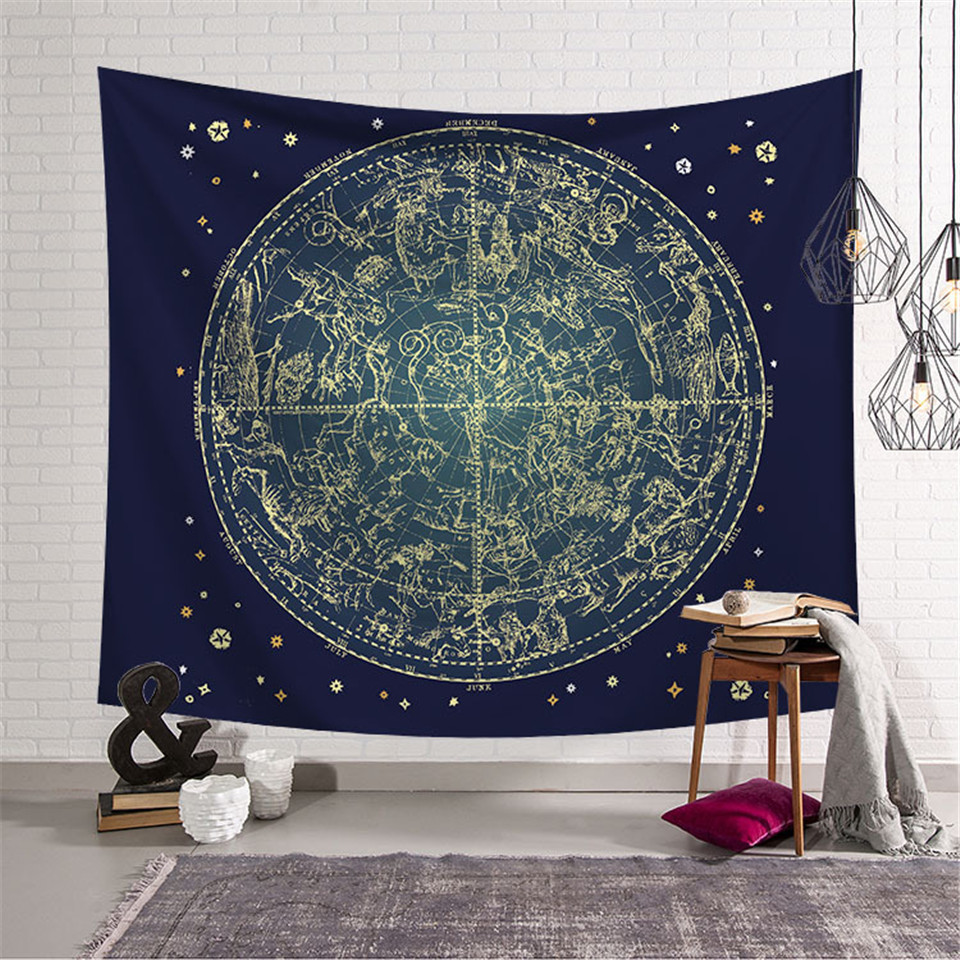 Cilected Galaxy Constellation Tapestry Fabric Wall Hanging Hippie Gossip Tapestry Home Decor Wall Art Tapestries Blanket ...