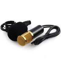 Beweglichen Verdrahtete Kondensator Tonaufnahme Mikrofon W/Shock Mount für Studio Rundfunk Gesang Karaoke PC Laptop Microfone