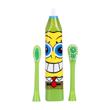 AZDENT Children Electric Toothbrush Cartoon Pattern Double-sided Tooth Brush Heads Electric Teeth Brush For Kids with 2 pcs Head