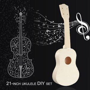 21 Inch DIY Ukulele Set 4 Stri