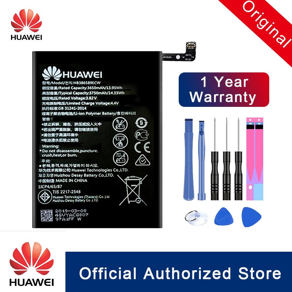 Hua Wei 100% Original HB386589ECW For Huawei Honor 8X View 10 Lite Replacement Battery Rechargeable Real Capacity Batteria Akku