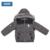 Moomin chicos chaqueta de invierno 2015 Nueva Llegada Casual kids Algodón parkas Cremallera Capucha Geométrica Paño de los niños de invierno los niños abrigo