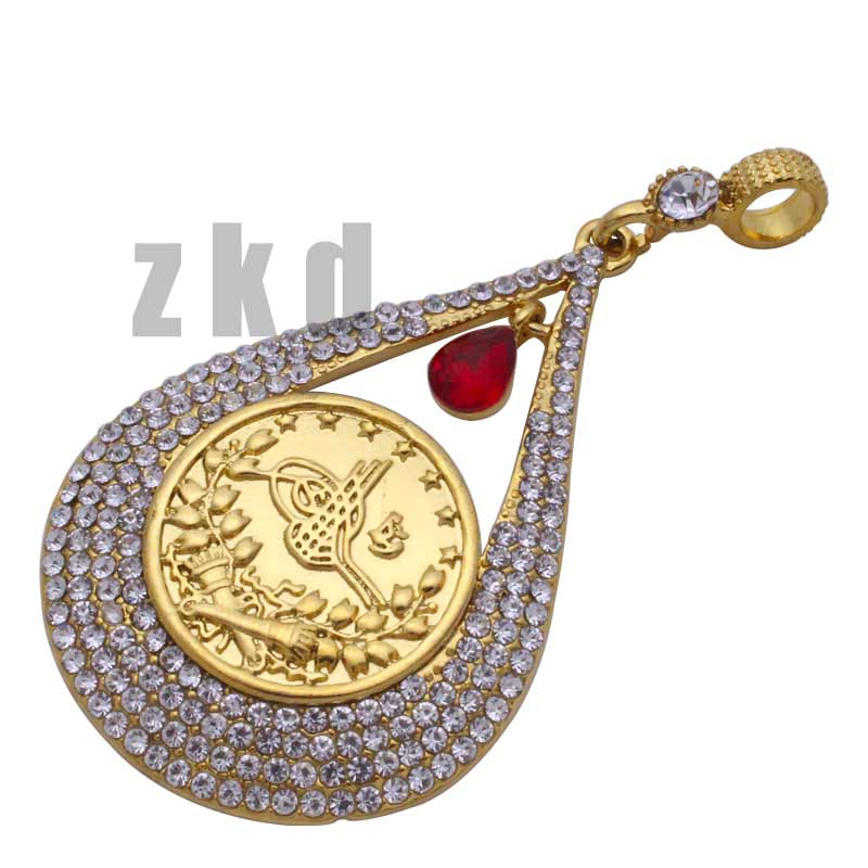 ZKD  islam muslim Turks Pendant Necklace Arab Coin Gold Color Turkey Coins Jewelry