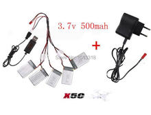 3.7V/500mAh Li-Po battery set  will wall charger for SYMA X5C X5A x5sc x5sw RC Quadcopter