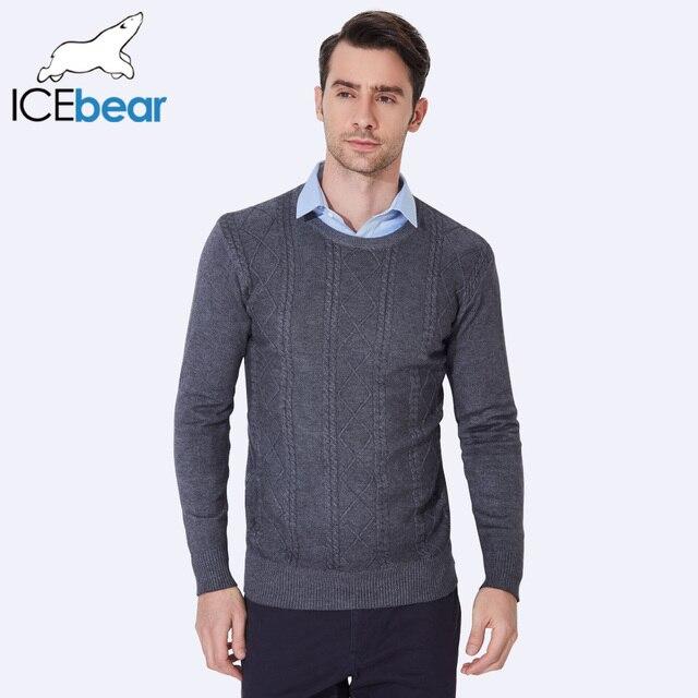 ICEbear осень 2017 г. весенние мужские дизайн свитера Высокое качество Мужские свитера пуловеры трикотажные Толстый теплый свитер мужской 9007D