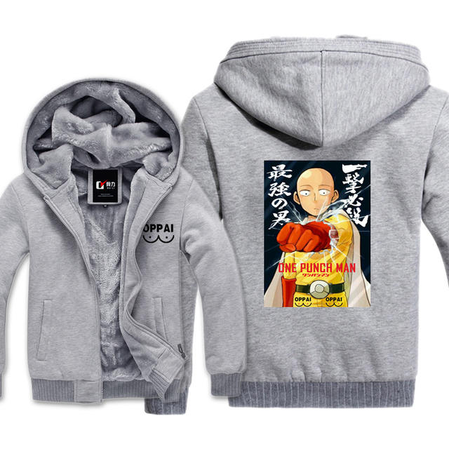 ONE PUNCH MAN SAITAMA ZIP-UP COAT HOODIE JACKET (3 VARIAN)