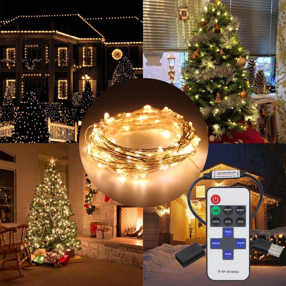 5 м 10 м 33FT USB 5 В светодиодный строка свет Рождества Медный провод праздник светодиодный свет для гирлянды вечерние свадебные новогоднее укра... ...