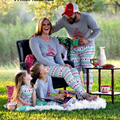 Christmas Family Pajamas Sleepwear Women Men Kid Pyjamas Cotton Striped Outfits