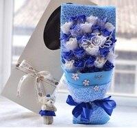 Eternal Ángel Fake Rose ramo con caja de regalo color púrpura regalo de San Valentín Navidad regalos de vacaciones flores artificiales