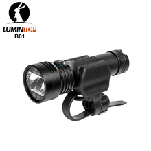 Lumintop b01 luz para bicicleta micro usb, recarregável, lanterna 21700/18650, antirreflexo, design de 850 lúmens, 210 metros